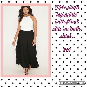 F21+ Wise Leg pants with high slits